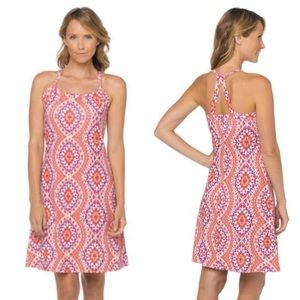 Prana Yoga Quinn Geometric Sleeveless Dress Small